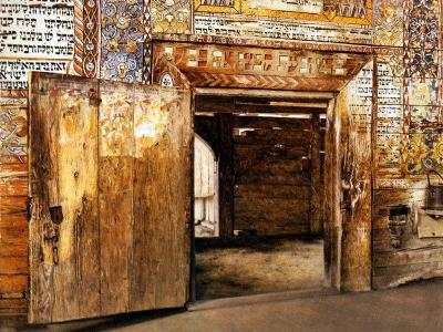 Portal of the Rabbis-Isidor Kaufmann-Art Print