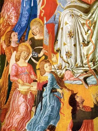 Portative Organ and Kettledrums, C1474-Matteo di Giovanni-Giclee Print