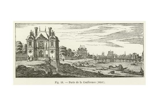 Porte De La Conference, 1650--Giclee Print