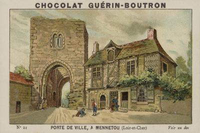 Porte De Ville, a Mennetou, Loir-Et-Cher--Giclee Print