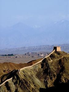 Beginning of the Great Wall, UNESCO World Heritage Site, Jiayuguan, Gansu, China by Porteous Rod