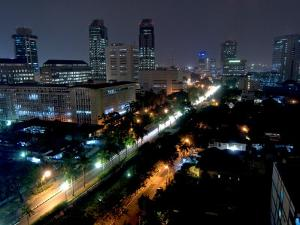 Cityscape at Night, Jakarta, Indonesia, Southeast Asia by Porteous Rod