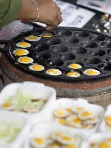 Cooking Quail Eggs, Chatuchak Weekend Market, Bangkok, Thailand, Southeast Asia by Porteous Rod