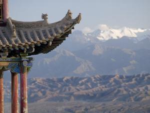 Decoration on 600 Year Old Tower, Jiayuguan Fort, Jiayuguan, Gansu, China by Porteous Rod