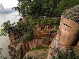 Giant Buddha, UNESCO World Heritage Site, Leshan, Sichuan, China by Porteous Rod