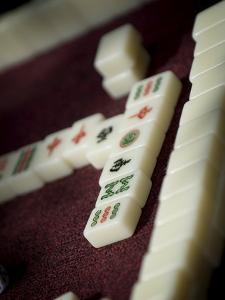 Mahjong Tiles, Dali, Yunnan, China by Porteous Rod