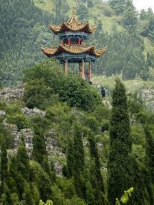 Pagoda on Hillside Outside Kunming, Kunming, Yunnan, China by Porteous Rod