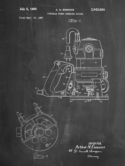 Porter Cable Hand Router Patent-Cole Borders-Art Print