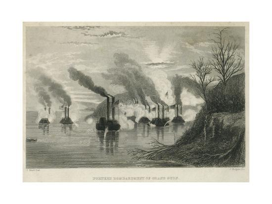 Porter's Bombardment of Grand Gulf, C.1863-Thomas Nast-Giclee Print