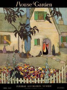 House & Garden Cover - April 1917 by Porter Woodruff