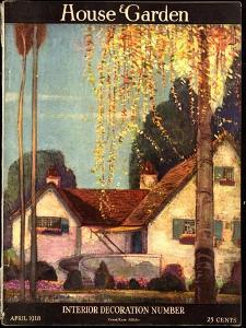 House & Garden Cover - April 1918 by Porter Woodruff