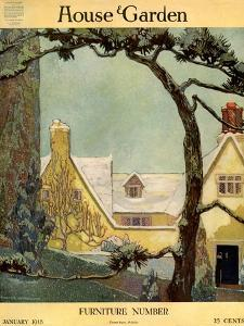 House & Garden Cover - January 1918 by Porter Woodruff