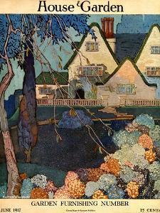 House & Garden Cover - June 1917 by Porter Woodruff