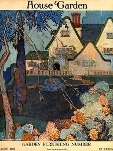 House & Garden Cover - June 1917 by Porter Woodruff