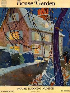 House & Garden Cover - November 1917 by Porter Woodruff