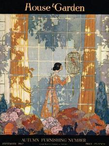 House & Garden Cover - September 1917 by Porter Woodruff
