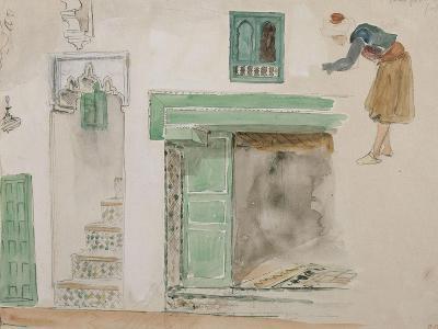 Portes et baies d'une maison mauresque; 1832-Eugene Delacroix-Giclee Print