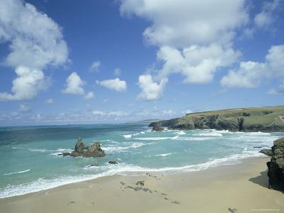 Porthcothan Bay with Trevose Head in Background, Cornwall, England, United Kingdom-Lee Frost-Photographic Print