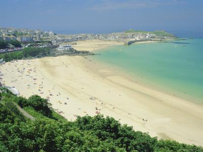 Porthminster Beach, St. Ives, Cornwall, England, UK-Gavin Hellier-Photographic Print