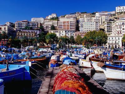 Porticciolo (Marina) at Mergellina, Naples, Italy-Jean-Bernard Carillet-Photographic Print