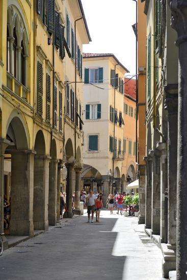 Portico (Covered Walkway), Borgo Stretto, Pisa, Tuscany, Italy, Europe-Peter Richardson-Photographic Print