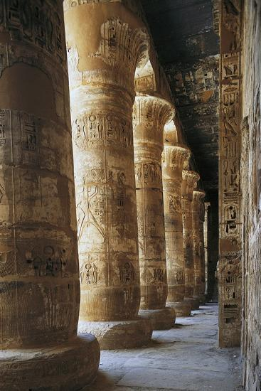 Portico of Courtyard, Temple of Ramesses III, Medinet Habu, Thebes--Photographic Print