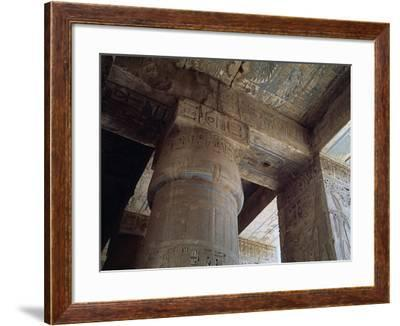 Portico of the Second Courtyard with Columns Covered with Bas-Reliefs--Framed Photographic Print