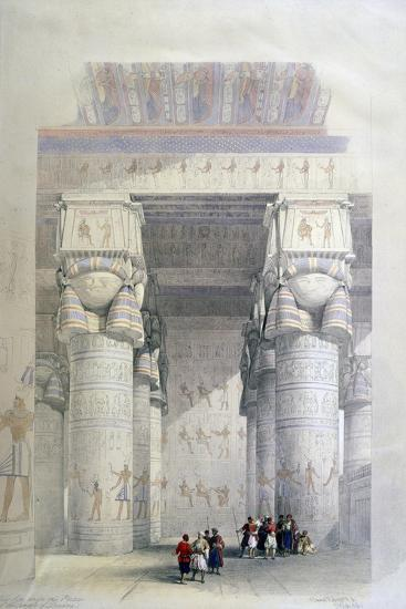 Portico of the Temple of Dendera, 19th Century-David Roberts-Giclee Print