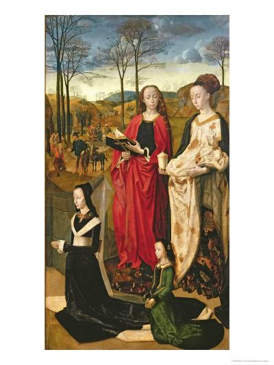 Portinari Altarpiece, St. Mary Magdalen and St. Margaret, Maria Baroncelli and Daughter, c.1479-Hugo van der Goes-Giclee Print