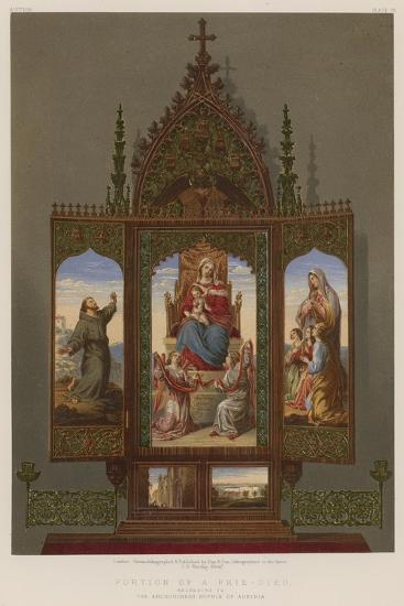Portion of a Prie-Dieu Belonging to the Archduchess Sophia of Austria--Giclee Print