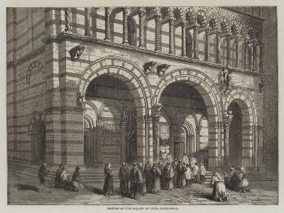Portion of the Facade of Lucca Cathedral--Giclee Print
