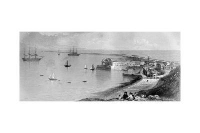 Portland Harbour and Breakwater, 1866--Giclee Print