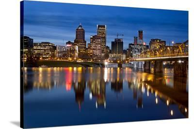 Portland Hawthorne Willamette--Stretched Canvas Print