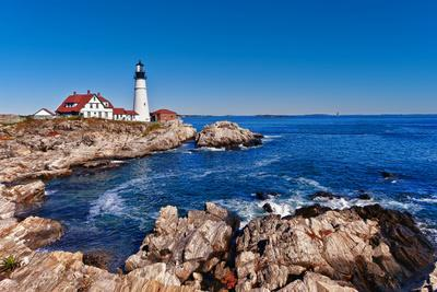 Portland Head Lighthouse in Cape Elizabeth, Maine-leekris-Photographic Print