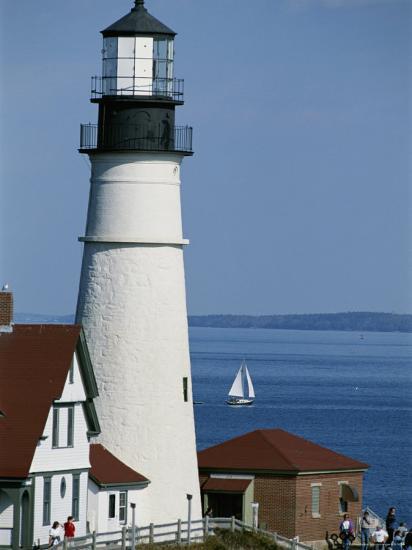 Portland Head Lighthouse on Cape Elizabeth-Rich Reid-Photographic Print