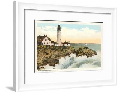 Portland Head Lighthouse, Portland, Maine--Framed Art Print