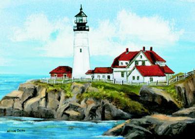 Portland Head Lighthouse-Kevin Smith-Art Print