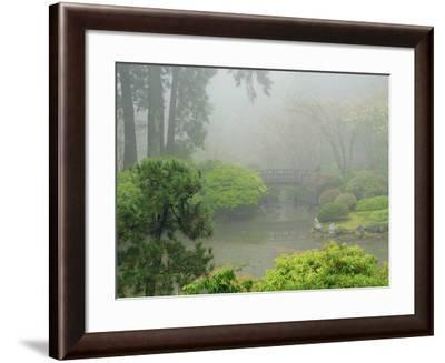 Portland Japanese Garden Fogged In: Portland, Oregon United States of America, USA-Michel Hersen-Framed Photographic Print