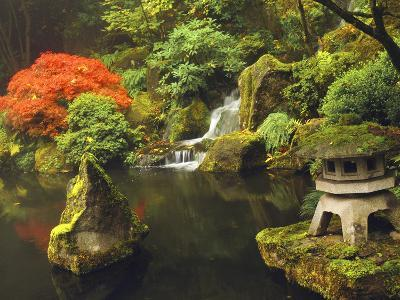 Portland Japanese Garden in Autumn, Portland, Oregon, USA-Michel Hersen-Photographic Print