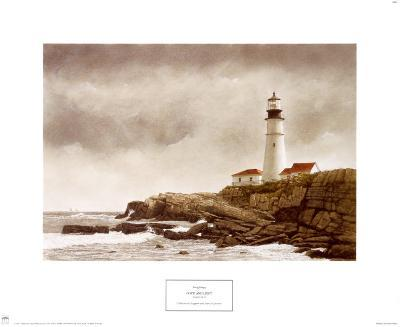 Portland Light-Douglas Brega-Art Print