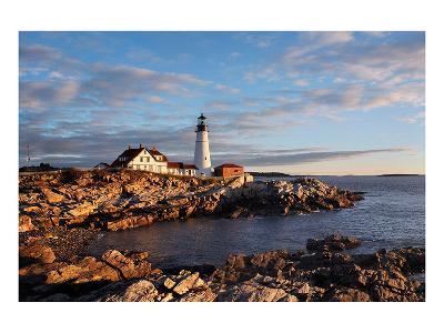Portland Maine Head Light Dawn--Art Print