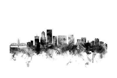Portland Oregon Skyline-Michael Tompsett-Art Print