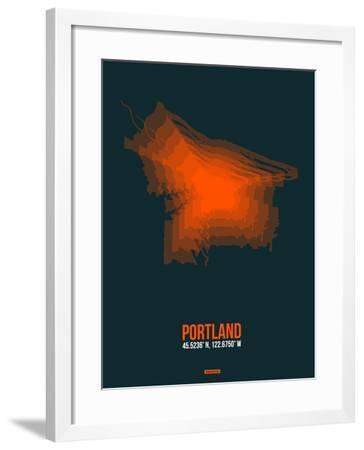 Portland Radiant Map 3-NaxArt-Framed Art Print