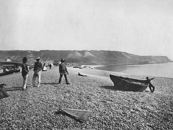 Portland - The Chesil Beach', 1895-Unknown-Photographic Print