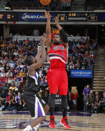 Portland Trail Blazers v Sacramento Kings-Rocky Widner-Photo