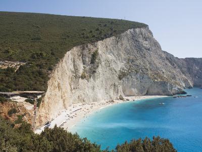 Porto Katsiki Beach, West Coast of Lefkada, Ionian Islands, Greek Islands, Greece, Europe-Robert Harding-Photographic Print