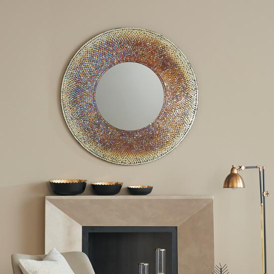Porto Mosaic Mirror--Wall Mirror