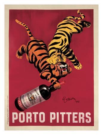 24x36 Porto Pitters Vintage Cappiello Art Poster Print