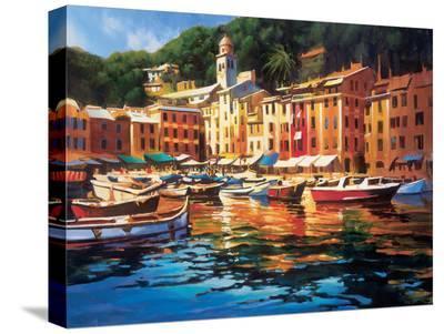 Portofino Colors-Michael O'Toole-Stretched Canvas Print