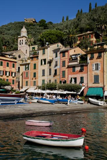 Portofino harbour Liguria Italy-Charles Bowman-Photographic Print